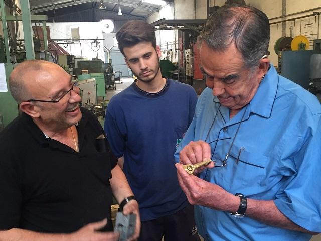 Visita AESA_Worcester_Ingeniero Héctor Cuéllar_Xavi Belloch_Paco Romero