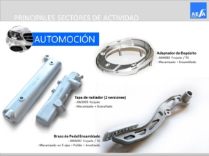 Forja piezas aluminio Automoción AESA