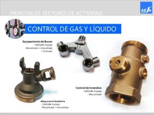 Forja piezas control Gases y líquidos válvulas AESA