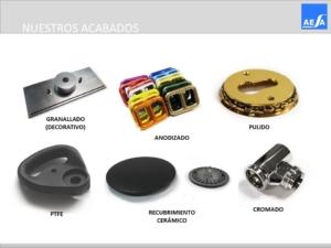 Acabados superficiales piezas forjadas en latón y aluminio